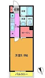 東船橋3丁目共同住宅B棟[203号室]の間取り