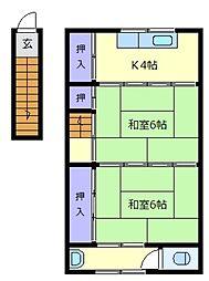 西田文化[2階]の間取り
