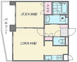 グレイスフルマンション舞松原[3階]の間取り