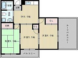 シティマンションパラス[4階]の間取り