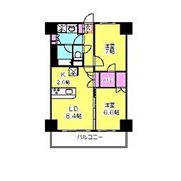 プレサーブ大倉山[402号室]の間取り