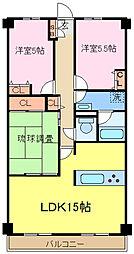 埼玉県さいたま市北区奈良町の賃貸マンションの間取り