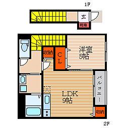滋賀県彦根市城町1丁目の賃貸アパートの間取り