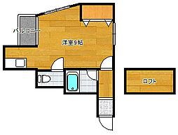 JiJi(ジジ)[2階]の間取り