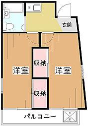 若草マンション[4階]の間取り