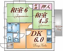 旭マンション[1階]の間取り