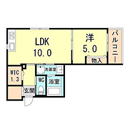 (仮称)神戸市灘区下河原通ヘーベルメゾン 2階1LDKの間取り