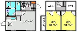 [テラスハウス] 神奈川県横浜市保土ケ谷区月見台 の賃貸【/】の間取り