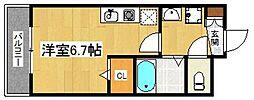 KATURAGI  Ville−B[201号室]の間取り