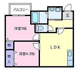 ミューゼ21[1階]の間取り