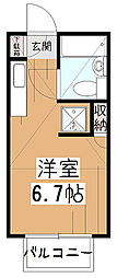 ライトサーム久米川[1階]の間取り