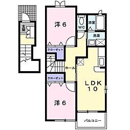 ケーズフロントII[2階]の間取り