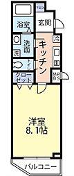 東京メトロ丸ノ内線 四谷三丁目駅 徒歩2分の賃貸マンション 4階1Kの間取り