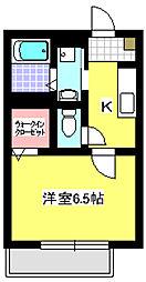 パナスィーム[2階]の間取り