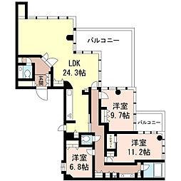 エルザタワー55[55階]の間取り