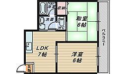 ヴィアーレ宿院[4階]の間取り