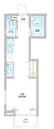 仮称 足立区西伊興1丁目新築アパート 1階ワンルームの間取り