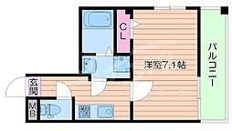 アンソレイユ京橋[6階]の間取り