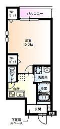 フジパレス園田東 3階1Kの間取り