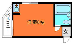 岡本ビラ[1階]の間取り