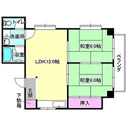 川島第20ビル枚方公園[4階]の間取り