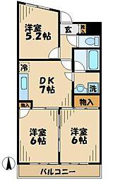 神奈川県川崎市麻生区五力田1丁目の賃貸マンションの間取り