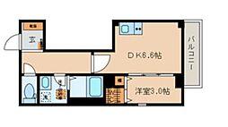 マミービル 3階1DKの間取り