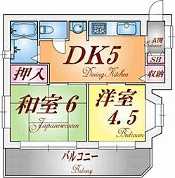 プラーフ東須磨[3階]の間取り