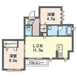 南区永田東1丁目シャーメゾン(仮)[2階]の間取り