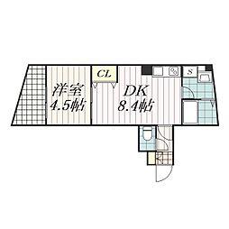 プラージュ東千葉[5階]の間取り