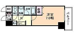 アクアプレイス東天満II[8階]の間取り
