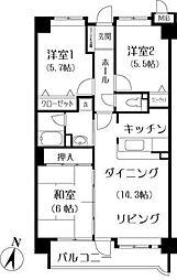 第7高島マンション[303号室]の間取り