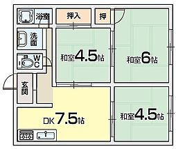 コーエイハイツA棟[1階]の間取り