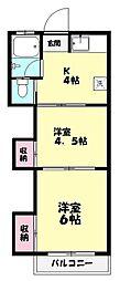 冨士荘[1階]の間取り