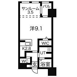 ラクレイス高宮[603号室]の間取り