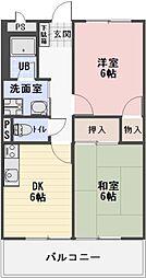 静岡県菊川市棚草の賃貸アパートの間取り