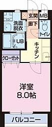 長野県千曲市大字寂蒔の賃貸アパートの間取り