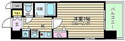大阪府大阪市北区中崎1丁目の賃貸マンションの間取り