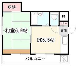 プリティハウス[3階]の間取り