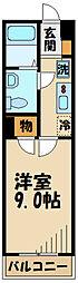 スクエアシティ仙川 2階1Kの間取り