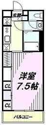 JR青梅線 西立川駅 徒歩11分の賃貸マンション 3階1Kの間取り