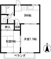 東京都武蔵野市西久保3丁目の賃貸マンションの間取り