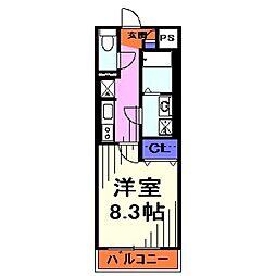 埼玉県戸田市本町5丁目の賃貸アパートの間取り