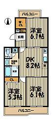 プレステージ本郷台[3階]の間取り