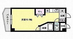 福岡県福岡市早良区西新3丁目の賃貸マンションの間取り