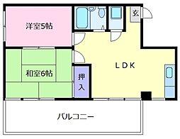ロータス藤田[4階]の間取り