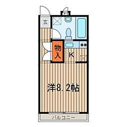 CASA YOZO[010号室]の間取り