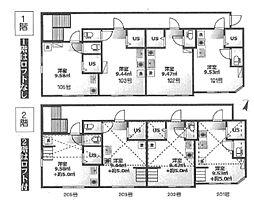 東京メトロ有楽町線 要町駅 徒歩4分の賃貸アパート 1階ワンルームの間取り