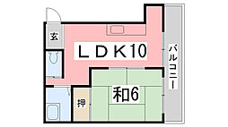 TKマンション[4階]の間取り