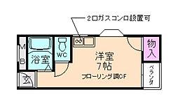 大阪府箕面市桜5丁目の賃貸マンションの間取り